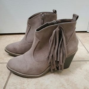 BOGO for $10- Faux suede Western ankle boots